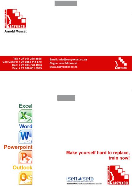 Easy Excel Business card design image